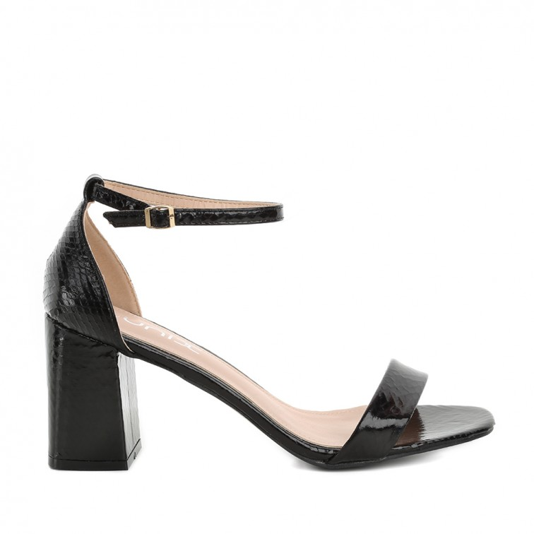 Melnas sieviešu augstpapēžu sandales UNIX